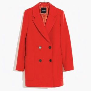 New Madewell Hollis Double Breasted Coat XXS
